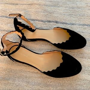 NWT scalloped flats with ankle strap